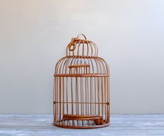 Vintage Bamboo Bird Cage by LittleDogVintage on Etsy, $45.00