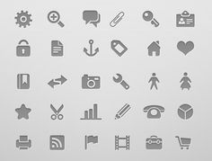 Minimalist Icon, Symbol & Pictogram Sets
