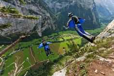 base-jump. Lauterbrunnen Valley