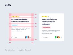 Workly - Grid System by Filip Justić for Balkan Brothers on Dribbble Wireframe Design, Ecommerce Web Design, Dashboard Design, Web Design Tips, Graphic Design Tips, Design Ideas, Ux Design Principles, Android Design, User Flow