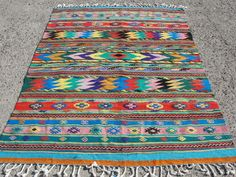 "Anatolia Turkish Antalya Nomads Kilim 64"" x 96"" Area Rug Kilim  #Turkish"
