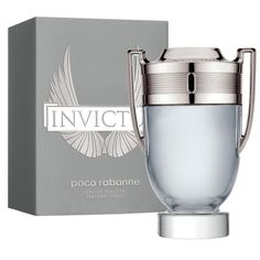 Paco Rabanne Invictus Eau De Toilette The Fragrance Opens With Fresh Grapefruit And a Marine Accord That Lead To The Heart Of Aromatic Bay Leaf And Hedione Jasmine And a Woody Base Of Guaiac Wood, Patchouli, Oak Moss And Ambergris. Paco Rabanne Men, Perry Ellis Perfume, Channel Perfume, Perfumes Caravan, Perfumes Top, Halloween Perfume, Anuncio Perfume, Ferrari Black, Mason Jars