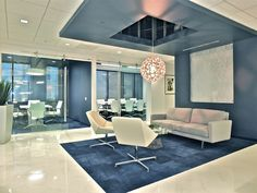 This rug effect using Dye Lab tile looks great in Law Offices of Tredway, Lumsdaine & Doyle - in Long Beach, CA