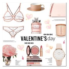 Valentine's Day Gifts for Her! by helenevlacho on Polyvore featuring Fleur du Mal, Kate Spade, CLUSE, Christian Dior, Charlotte Tilbury, The French Bee, Wedgwood, Tom Dixon, giftguide and valentinesday