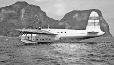 Ansett Sandringham Flying Boat Lord Howe Island circa 1954                                                                                                          Barrie Colledge collection