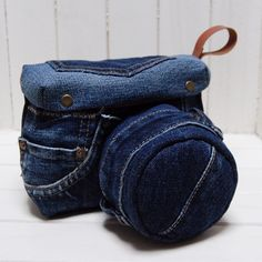Recycled camera case made by Japanese artist.