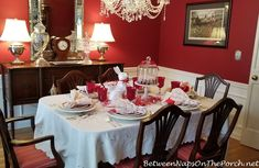 Valentine S Day Table Setting With A Guest Earance By The Easter Bunny