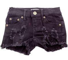 Play Six Denim Cut Off Shorts / Black