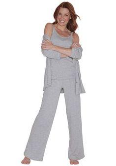 3 pieces knit pajama set by Dreams & Co ® | Plus Size Cozy Sleepwear | Woman Within
