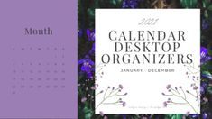 Keep all of your files organized and easily accessible with these beautiful calendar desktop wallpaper organizers. These organizers are perfect for everyone - teachers, admin, homeschoolers, students, everyone! You get a monthly calendar image with three options for organizing:Option 1: Work, Dai... Desktop Organization, 2021 Calendar, 5th Grades, Writing Activities, Teaching Tools, Sticky Notes, Organizers, Homeschool, Students