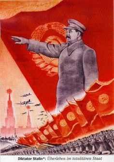 Soviet design styling: lots of angled perspective of groups of people overlapped with a larger emblem or image.