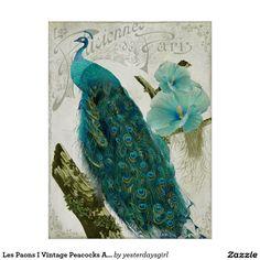 Les Paons I Vintage Peacocks Art Nouveau Print