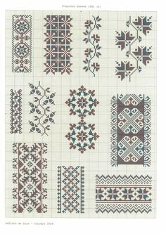 This Pin was discovered by Asi Cross Stitch Boarders, Cross Stitch Charts, Cross Stitch Designs, Cross Stitching, Cross Stitch Patterns, Stitch Crochet, Crochet Motifs, Filet Crochet, Russian Cross Stitch