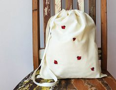 Ladybug Lingerie bag Laundry bag Travel lingerie bag by GalaBorn, $49.00