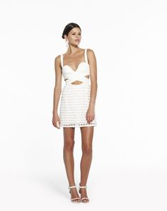 Alice McCall Nude and White Citrine Dress
