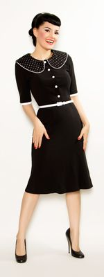Black Collared Stella Wiggle Dress