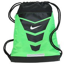 Nike Vapor Drawstring Backpack Accessories (Green Black)