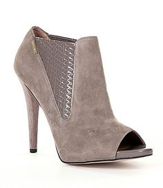 Calvin Klein 'Neive' Peep-Toe Booties, on sale here: rstyle.me/~7gHGk