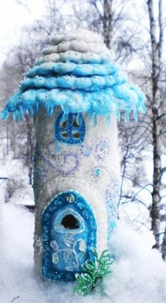 OMG!! Frozen Fairy Garden castle perhaps??
