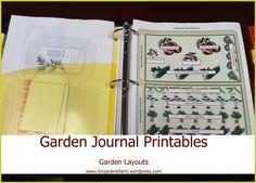 garden journal printables (free)