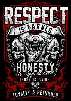 T-shirt - Respect Is Earned Skull & Engine