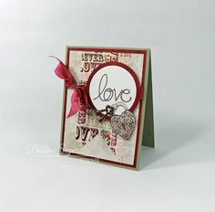 It's Time for Love?........ by @debbiemom23cs for @therubbercafe #card #stamping #creativecafeKOTM