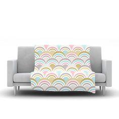 """Nicole Ketchum """"Art Deco Delight"""" Fleece Throw Blanket"""