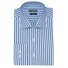 Chemise coupe cintrée à rayures marine et vert - Café Coton #chemise #chemisehomme http://www.cafecoton.fr/nouveaux-cols/11001-chemise-coupe-cintree-a-rayures-marine-et-vert.html