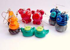 Polymer Clay Earring Fimo Earrings Polymer by GlitteramaCrafts, £8.95
