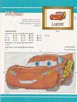Вышивка крестом / Cross stitch : Герои из мультика Тачки