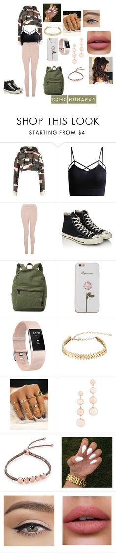 """cam runaway"" by ceasethenight ❤ liked on Polyvore featuring Miss Selfridge, Converse, Herschel Supply Co., Fitbit, Rebecca Minkoff and Monica Vinader"