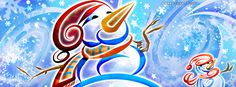 Cool Snowman Facebook Cover CoverLayout.com