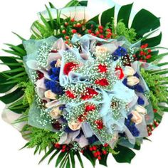 Carnival of Color Flowers Uk, 4th Of July Wreath, Baby Gifts, Christmas Wreaths, Carnival, Holiday Decor, Color, Home Decor, Colour