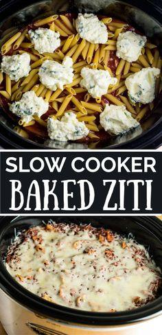 Slow Cooker Baked Ziti