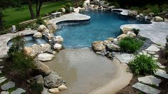 beach entry pools design | Pool and Spa Builder Sacramento, New Pool Construction, Pool ...
