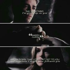 Say something - Barry & Caitlin - The Flash Snowbarry