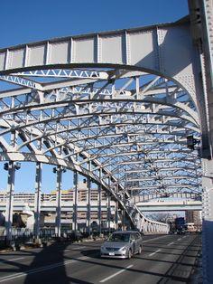 美しい橋 白鬚橋の鉄骨