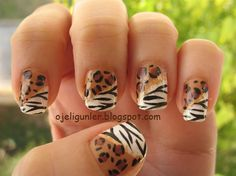 Hand painted cheetah prints - Nail Art Gallery by NAILS Magazine