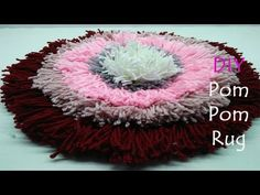 DIY Doormats I How to make doormats using woolen I Doormats making idea - Craft projects Wire Crafts, Diy And Crafts, Diy Pom Pom Rug, Crochet Lampshade, Loom Board, Fabric Manipulation Techniques, Simple Rangoli, Sewing Stitches, Knitting Videos