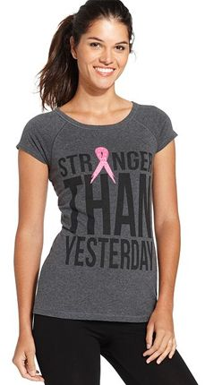 Ideology Stronger Than Yesterday Pink-Ribbon Tee: every purchase through this link supports BreastCancer.org and other related charities.