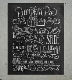 Pumpkin+Pie+Chalkboard+Art+Print+by+Lily+&+Val+on+Scoutmob+Shoppe