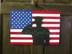 Patriotic Door Hanger  Support our Troops  by CarolinaMoonCrafts