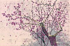 In full bloomM1107[woodcut] ( Park Gu-hwan)