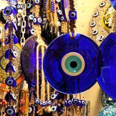 Mauvais oeil turque NAZAR grec Fatma Pendantes Boucles D/'oreilles Pendantes 14k Jaune or blanc