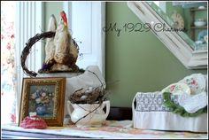 cottage style summer buffet vignette