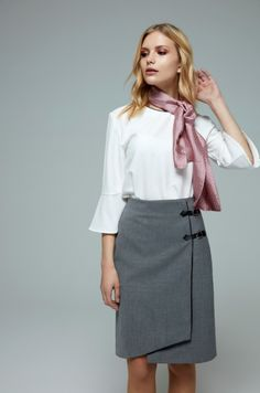 #classic #shirt #skirt #scarf #womenswear #fashion #fashiondesign #flightattendants #frontoffice #hotel #uniform #tailored