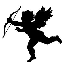 Love Silhouette Clip Art | Vintage Clip Art – Poems of Love Silhouette – Cupid