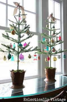 Feather Trees - great for showing off special ornaments