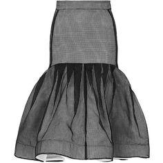 Maticevski Innovative Flute Skirt (€1.345) ❤ liked on Polyvore featuring skirts, bottoms, black knee length skirt, high rise skirts, knee length pleated skirt, pencil skirt and high waisted pleated skirt