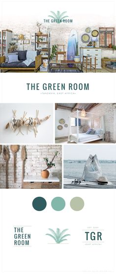 The Green Room branding | Anelise Salvo Design Co.